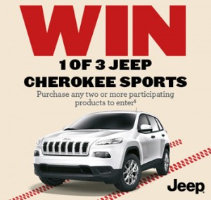 BWS – Purchase any 2 to Win 1 of 3 White Jeep Cherokee Sport Automatic automobiles in white including all on-road costs valued at $35,000 each