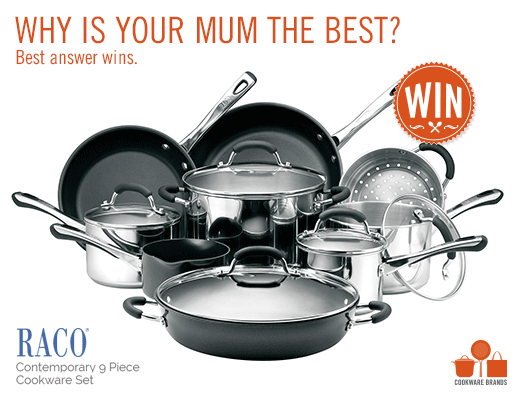 Cookware Brands -Win RACO Contemporary 9-piece Cookware Set valued at ...