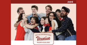 AAMI Insurance – Win an unforgettable reunion trip worth $30,000