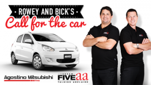 FIVEaa Talking Adelaide Sport Show – Win a 5-door Mitsubishi Mirage 2015 valued at up to $12,990