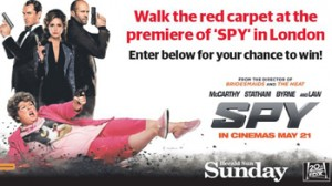 Herald Sun – Win a trip for 2 to London to attend the star-studded premiere of SPY valued at up to $9,400 OR 1 of 20 runner-up double passes