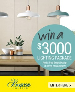 TV Winners – Win a Lighting Package & a free Bright Design in home consultation valued at $3,100