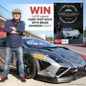 ABC Shop – Win 1 of 10 signed copies of the DVD-Cars That Rock with Brian Johnson valued at $30 each