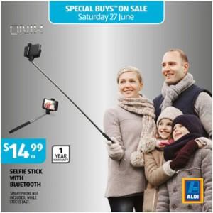 ALDI Australia – Win 1 of 2 Bluetooth Selfie Sticks