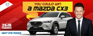 2GB 873AM – Win an automatic Mazda CX3 Maxx Petrol FWD Crystal White Pearl car valued at $28,055 Thanks to West End Mazda