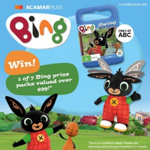 ABC Shop – Win 1 of 7 Bing prize packs valued at over $99