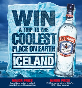 BWS – Win a trip to Iceland + GoPro Camera (purchase Poliakov Vodka)