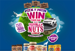 KRAFT Peanut Butter – Win a major prize of a new Jeep Compass Sport 4×2 Petrol CVT Auto Model OR a Hawaii Family Holiday for 4 OR a Family Cruise valued at up to $30,000 OR 1 of 40 daily prizes of $500 pre-paid EFTPOS gift cards