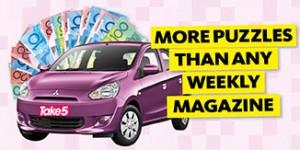 Take 5 Mag – Win A Mitsubishi Mirage ES valued at up to $15,991
