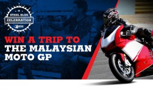Tenplay-Steel Blue – Win a trip for 2 to attend the Shell Advance Malaysian Motorcycle Grand Prix Malaysian in Sepang, Malaysia in October valued at AUD$8,250