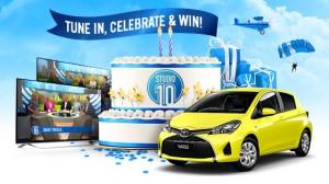 Channel Ten – Watch Studio 10 2nd Birthday Week to win a Toyota Yaris Hatch Car