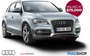 Magshop – Subscribe to Win an Audi Q5 TFSI Quattro Tiptronic valued at over $75,000
