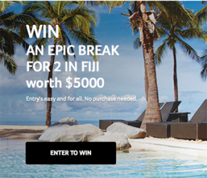 Acer – Win 1 of 5 trips for 2 to Fiji valued at up to AU$5,000 each