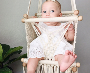 Aster & Oak – WIN an Organic Handmade Baby Swing Valued at $200