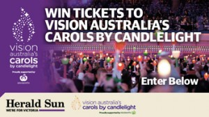 Herald Sun – Win 1 of 10 Family VIP Lawn Passes to Carols by Candlelight & a $100 Woolworths giftcard valued at up to $580 each