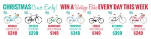 REID Cycles – Win a Vintage Bike everyday this week valued at up to $349