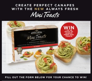 Always Fresh – Win 1 of 48 packs of Alwasy Fresh Mini Toasts