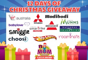 Mum Central – 12 Days of Christmas Giveaways – Win a share in $1,000s of Prizes