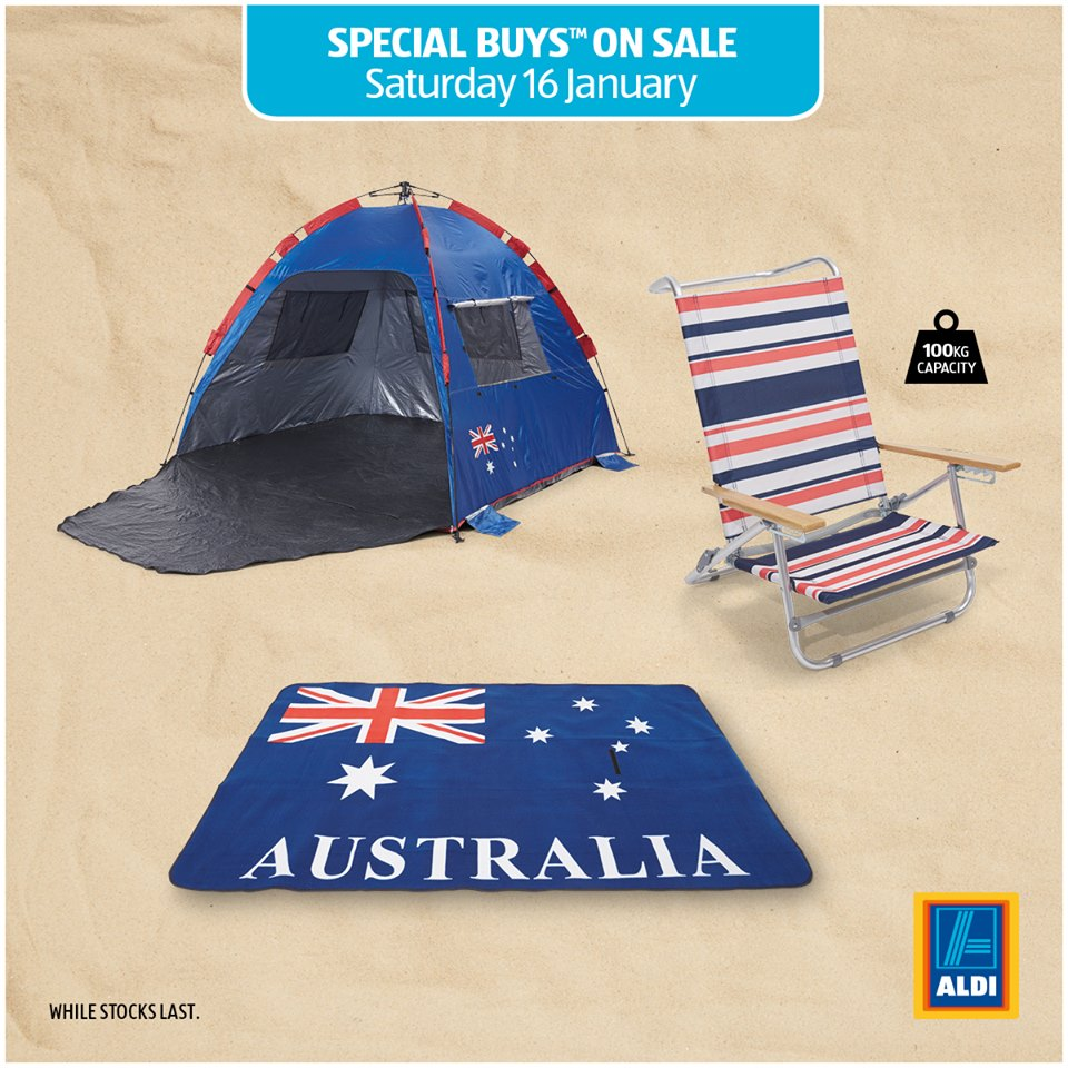 Aldi Picnic Basket Australia : Aldi win a beach pack aluminium chair big ezee