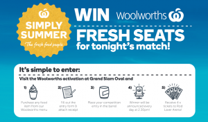 Woolworths Rewards/Australian Open – Win 1 of 14 Australian Open Event Ticket packages valued at up to $1,680
