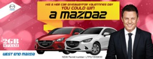 2GB 873AM – Win 1 of 2 Mazda 2 Neo cars valued at $18,990 each thanks to West End Mazda