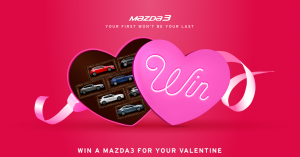 Mazda – Win a Mazda3 SP25 Astina Automatic Car for your Valentine 2016 (valued up to $42,000)
