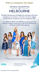 Multi Channel Network – Win 1 of 50 single passes in Sydney & Melbourne to attend a tea party with The Real Housewives of Melbourne