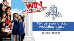 Sunrise – Channel Seven – My Big Fat Greek Wedding 2 – Win 1 of 5 ticket packages of 20 tickets each to the Premiere of My Big Fat Greek Wedding 2