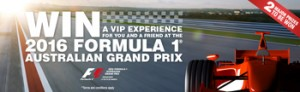 Swisse – Win 1 of 2 trips for 2 to the 2016 Formula 1 Australian Grand Prix with the total value up to $75,780