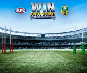 Bottlemart – LMG Footy Launch – Win 1 of 425 Instant-Win prizes of 2 tickets to a 2016 AFL or NRL game