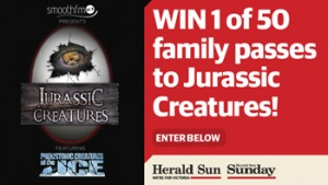 Herald Sun – Win 1 of 50 family passes to Jurassic Creatures at Harbour Town, Docklands, Melbourne valued at up to $104 each