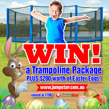 jumpstar trampolines win a jump star trampoline plus 200 australian competitions. Black Bedroom Furniture Sets. Home Design Ideas