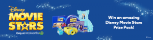 Prime7 – Woolworths – Win 1 of 4 major Disney Movie Stars prizes valued at $85 each