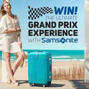 Samsonite Australia & New Zealand – Win the Ultimate Grand Prix prize pack with Samsonite valued at over RRP $1,850