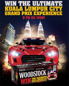 Asahi Premium Beverages – Woodstock – Win 1 of 3 Malaysian Grand Prix 2016 trips for 2 valued up to $11,500 each