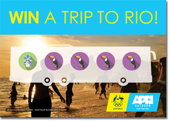 APN Outdoor – Road to Rio – Win a major prize of a trip for 2 to Rio, Brazil valued at $45,000 OR 1 of 400 instant prizes
