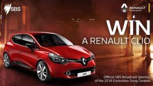 SBS – Eurovision 2016 – Win a Renault Clio Car