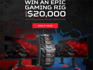 Acer Computers Australia – Acer Predator-Craft Your War Machine – Win a custom built gaming rig valued up to AU$20,000