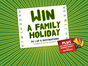 IGA – Kraft – Back To School – Win a Family Holiday to 1 of 5 Destinations Plus 300 unlimited edition Vegemite Helmets instantly