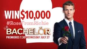 Channel Ten – The Bachelor – Watch & Win $10,000 with #RoseFromRichie