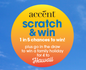 Mitre 10 – Accent Paint – Scratch and Win plus Win a family Trip to Hawaii for 4