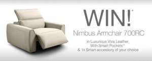 King Living Australia – Win a 700 Numbus Armchair in Viva leather with smart pockets & an accessory of their choice valued up to $4,784