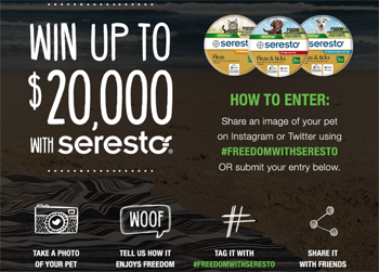 Nine Digital – Win 1 of 13 cash prizes valued from $500 up to $10,000 cash OR 1 of 100 Seresto collars