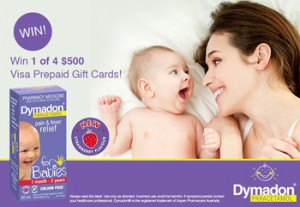 Mouths of Mums – Dymadon – Win 1 of 4 $500 Visa Gift Cards