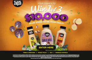 IGA – Win 1 of 3 $10,000 Cash With Zoosh plus $500 to be won daily