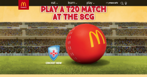 McDonald's – Win a T20 Match (buy an Extra Value Meal or McCafe Bundle)