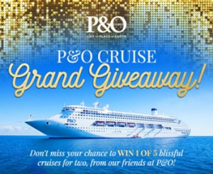 Scoopon – Win 1 of 5 cruises for 2 with P&O valued at $1,698