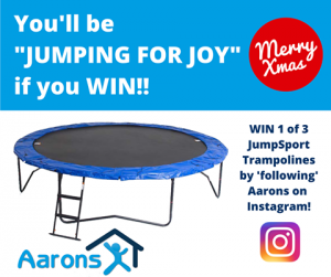Aarons Outdoor Living – Win 1 of 3 14ft JumpSport SoftBounce Trampolines for Christmas
