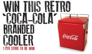 Coca-Cola – Woolworths – Win a 28L Coca-Cola Branded Retro Metal Cooler capacity valued at $249.95
