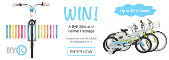 Tinitrader – Win a ByK Bike & Helmet package valued at $600